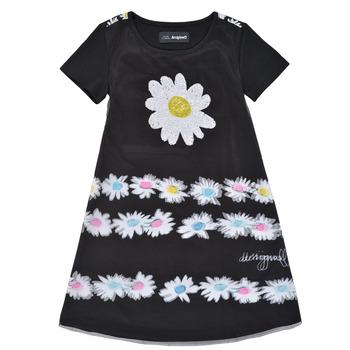 Textiel Meisjes Korte jurken Desigual 21SGVK28-2000 Zwart