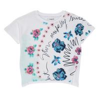 Textiel Meisjes T-shirts korte mouwen Desigual 21SGTK02-1000 Wit