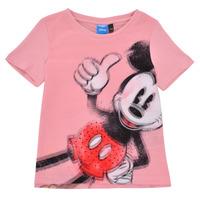 Textiel Meisjes T-shirts korte mouwen Desigual 21SGTK43-3013 Roze