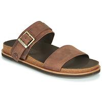 Schoenen Heren Leren slippers Timberland AMALFI VIBES 2BAND SANDAL Brown