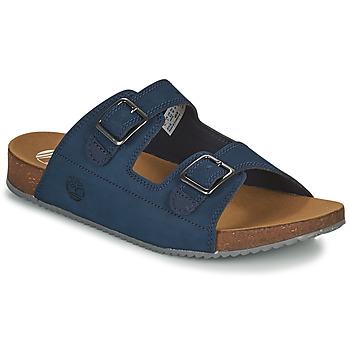 Schoenen Kinderen Leren slippers Timberland CASTLE ISLAND SLIDE Blauw