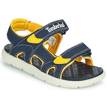 Schoenen Kinderen Sandalen / Open schoenen Timberland PERKINS ROW 2-STRAP Blauw / Geel