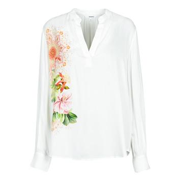 Textiel Dames Overhemden Desigual TIGRIS Wit