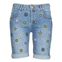 Textiel Dames Korte broeken / Bermuda's Desigual GRECIA Blauw