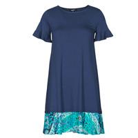 Textiel Dames Korte jurken Desigual KALI Marine