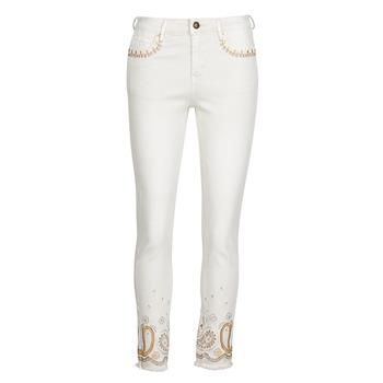 Textiel Dames Skinny jeans Desigual PAISLEY Wit