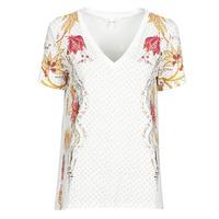 Textiel Dames T-shirts korte mouwen Desigual PRAGA Wit