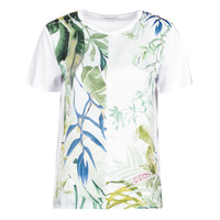 Textiel Dames T-shirts korte mouwen Desigual BUDAPEST Wit