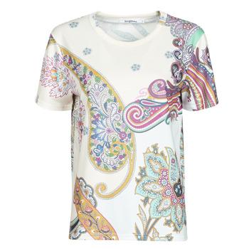 Textiel Dames T-shirts korte mouwen Desigual POPASLEY Wit