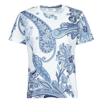 Textiel Dames T-shirts korte mouwen Desigual POPASLEY Blauw