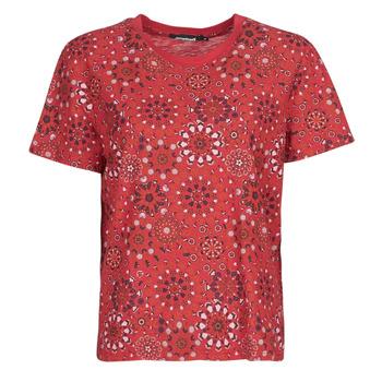 Textiel Dames T-shirts korte mouwen Desigual LYON Rood