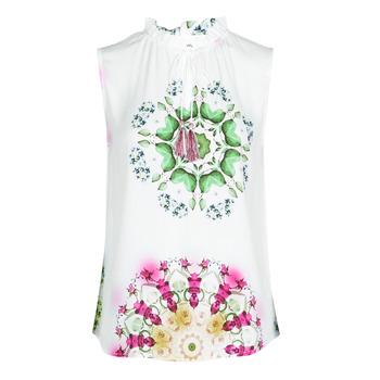 Textiel Dames Mouwloze tops Desigual ROSEN Wit