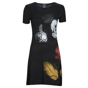 Textiel Dames Korte jurken Desigual MICKEY Zwart
