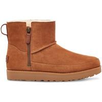 Schoenen Dames Enkellaarzen UGG W classic zip mini Brown