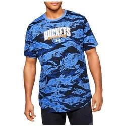Textiel Heren T-shirts korte mouwen Under Armour Baseline Verbiage Tee Bleu, Bleu marine