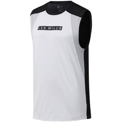 Textiel Heren T-shirts korte mouwen Reebok Sport Les Mills Smartvent Blanc, Noir