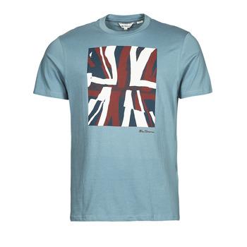 Textiel Heren T-shirts korte mouwen Ben Sherman HALF TONE FLEG TEE Blauw