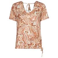 Textiel Dames T-shirts korte mouwen Cream LULLA TSHIRT Multikleuren