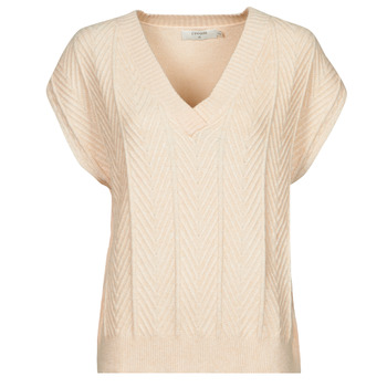 Textiel Dames Tops / Blousjes Cream MAHIMA SLEEVELESS Beige