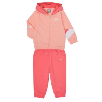 Textiel Meisjes Setjes Puma BB MINICATS REBEL Roze / Grijs