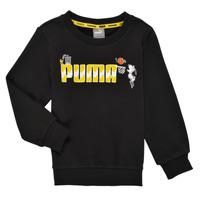Textiel Jongens Sweaters / Sweatshirts Puma SNOOPY PEANUTS CREW Zwart