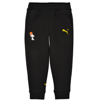 Textiel Jongens Trainingsbroeken Puma SNOOPY PEANUTS SWEAT PANT Zwart