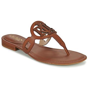 Schoenen Dames Sandalen / Open schoenen Lauren Ralph Lauren AUDRIE Cognac