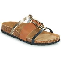 Schoenen Dames Leren slippers Metamorf'Ose JA Brown