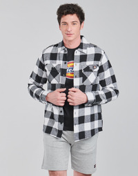 Textiel Heren Overhemden lange mouwen Dickies NEW SACRAMENTO SHIRT BLACK Zwart / Wit