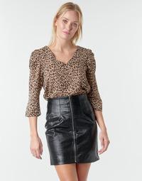 Textiel Dames Tops / Blousjes Moony Mood NOULIETTE Beige / Brown