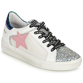 Schoenen Dames Lage sneakers Semerdjian CARLA Zilver / Wit / Groen