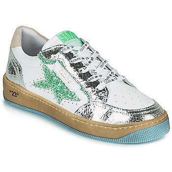 Schoenen Dames Lage sneakers Semerdjian ARTO Wit / Zilver / Groen