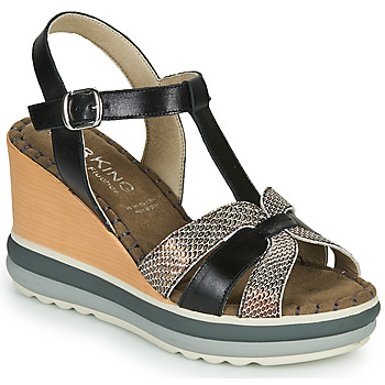 Schoenen Dames Sandalen / Open schoenen Dorking TOTEM Zwart / Brons