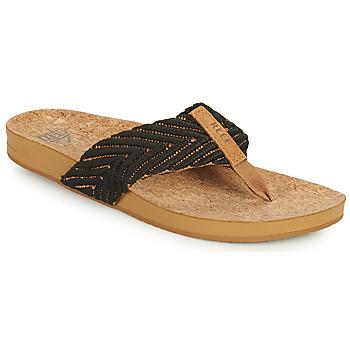 Schoenen Dames Slippers Reef REEF CUSHION STRAND Zwart