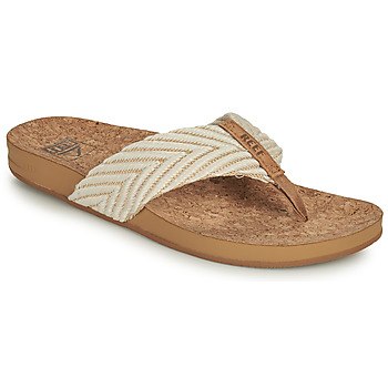 Schoenen Dames Slippers Reef REEF CUSHION STRAND Wit