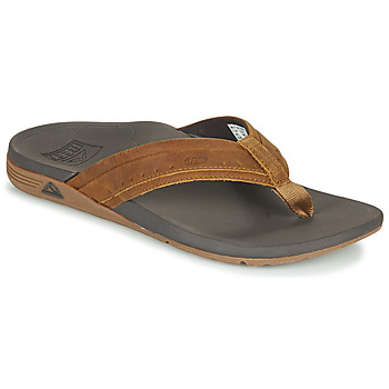 Schoenen Heren Slippers Reef LEATHER ORTHO-SPRING Brown