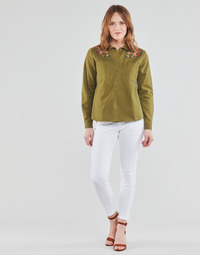 Textiel Dames 5 zakken broeken Freeman T.Porter ALEXA CROPPED S-SDM Wit