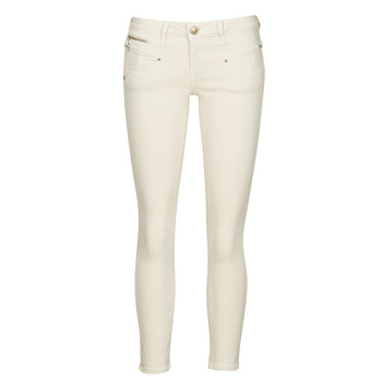 Textiel Dames 5 zakken broeken Freeman T.Porter ALEXA CROPPED NEW MAGIC COLOR Boter / Creme