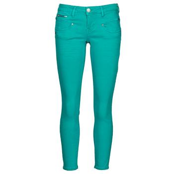 Textiel Dames 5 zakken broeken Freeman T.Porter ALEXA CROPPED NEW MAGIC COLOR  viridian / Green