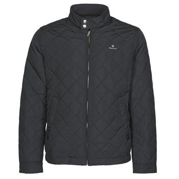 Textiel Heren Wind jackets Gant QUILTED WINDCHEATER Zwart
