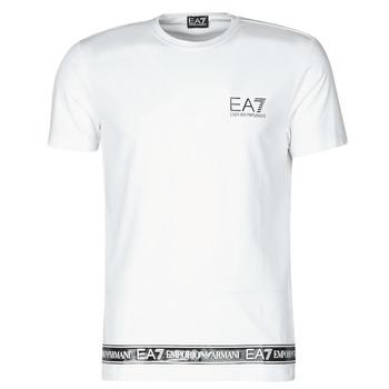 Textiel Heren T-shirts korte mouwen Emporio Armani EA7 3KPT05-PJ03Z-1100 Wit