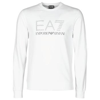 Textiel Heren Sweaters / Sweatshirts Emporio Armani EA7 3KPMD7-PJ2SZ-1100 Wit