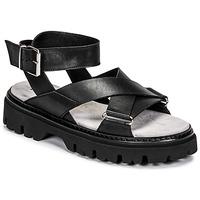 Schoenen Dames Sandalen / Open schoenen Fru.it 6757-100-NERO Zwart