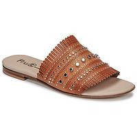 Schoenen Dames Leren slippers Fru.it 6765-100-CUOIO Brown