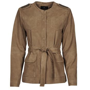 Textiel Dames Leren jas / kunstleren jas One Step DITA Cognac