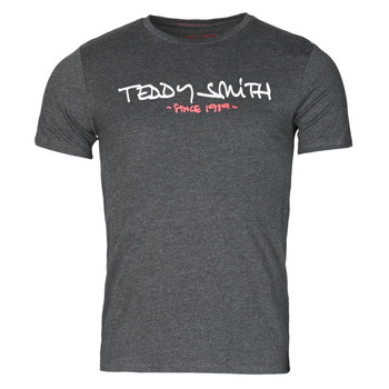 Textiel Heren T-shirts korte mouwen Teddy Smith TICLASS Grijs / Donker