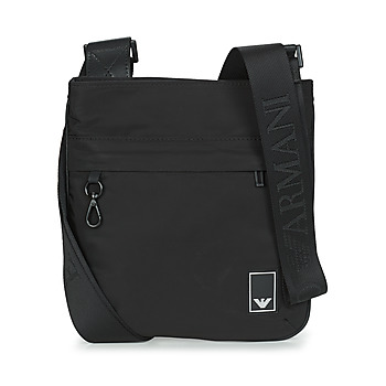 Tassen Heren Tasjes / Handtasjes Emporio Armani SMALL FLAT MESS. TRAVEL ESSENT - MESSENGER BAG Zwart