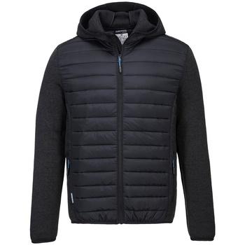 Textiel Dons gevoerde jassen Portwest PW1121 Grijze mergel/zwart