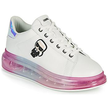 Schoenen Dames Lage sneakers Karl Lagerfeld KAPRI KUSHION KARL IKONIC LO LACE Wit / Multicolour