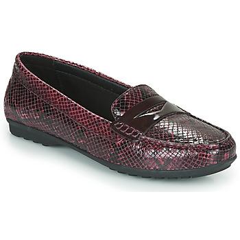 Schoenen Dames Mocassins Geox D ELIDIA Bordeaux